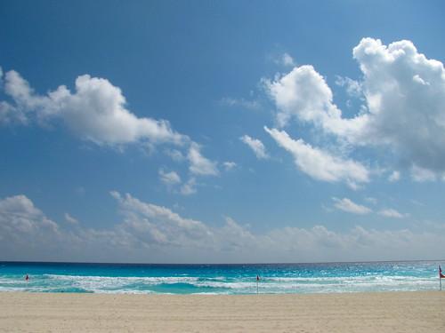 Nubes sobre el Mar Caribe