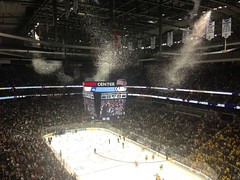 Confetti rains down in Consol Energy Center as Yale wins