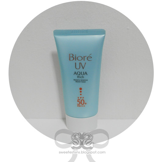 biore uv aqua rich watery essence spf50+ pa+++ review
