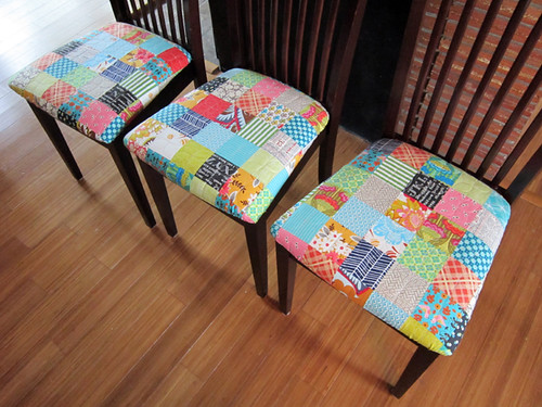 Patchwork chair covers!