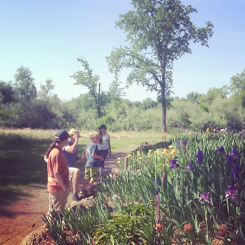 Brian and Christyn and us at Horton Iris Farm