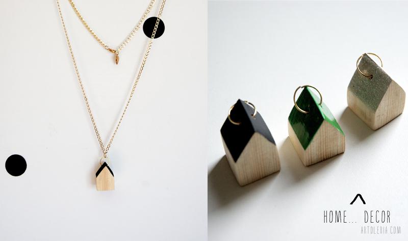 Casette di legno come collane