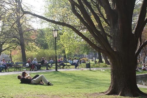 Relaxing in the Burggarten