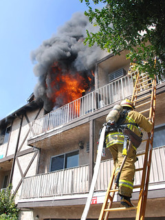 LAFD Rescues Occupants & Battles North Hollywood Apartment Blaze