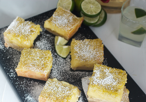 Lime Margarita Bars #HolidayFoodParty