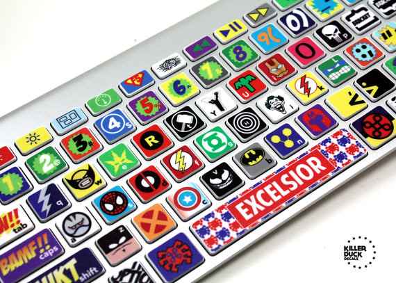 MacBook Keyboard Super Hero Skin 01