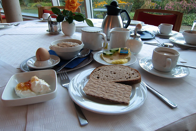 A traditional German breakfast in Pforzheim
