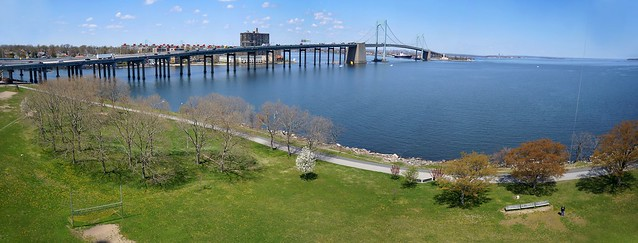Throgs Neck Bridge Panorama from Little Bay Park, NY