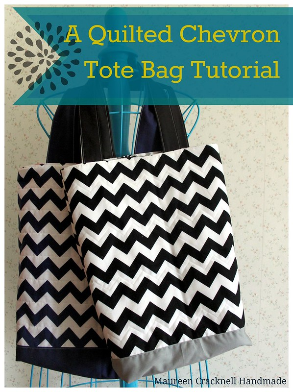 A Quilted Chevron Tote Bag tutorial
