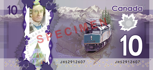 Canada $10 Bank Note. Courtesy: Bank of Canada