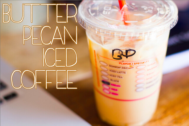 Dunkin' donuts butter pecan coffee
