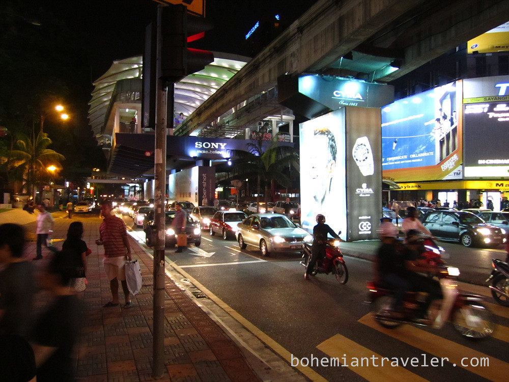 KL streets at night