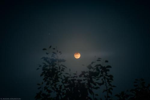 Partial lunar eclipse seen from Skopje