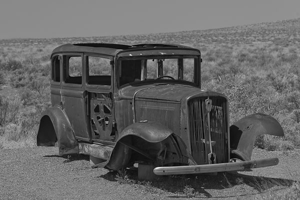 Car on Historic Route 66