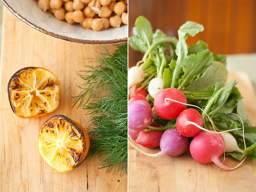 Roasted Lemons and Radishes