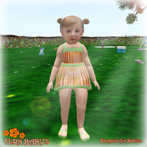 Spring Dress Orange ==> 75L for this week by ~ ✫ FLRN BABY'S & FLRN DESIGN ✫ ~
