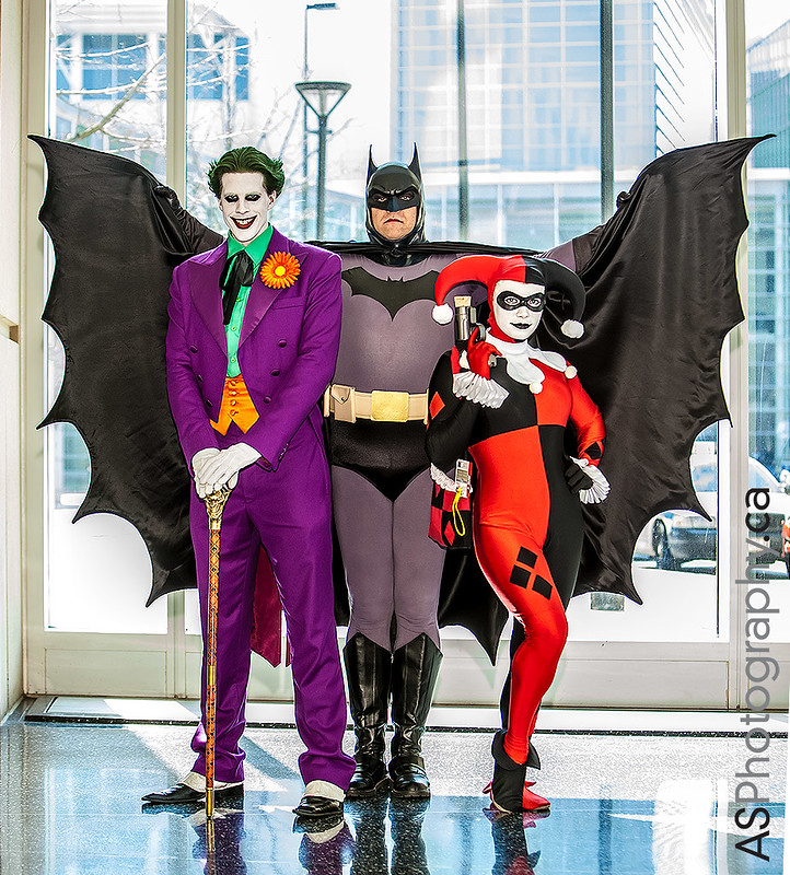 Joker, Batman & Harley Quinn captured at C2E2 2013