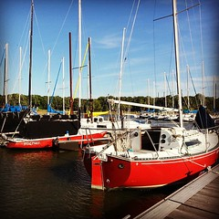 While he fishes...I take boat pics. #sailboats #sailing #Lewisvillelake