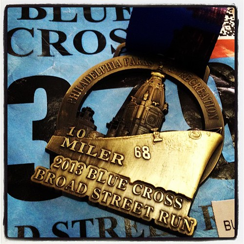 IBX 2013 Broad Street Run finisher medal #forboston