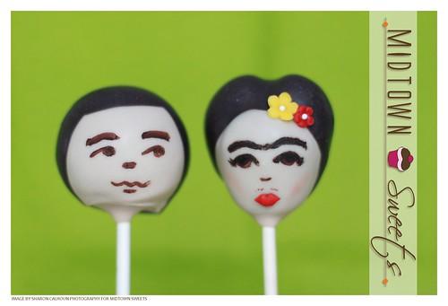 Cinco De Mayo Cake Pops: Frida Kahlo & Diego Rivera