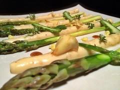 hors d'oeuvre(0.0), produce(0.0), vegetable(1.0), asparagus(1.0), food(1.0), dish(1.0), asparagus(1.0), cuisine(1.0),