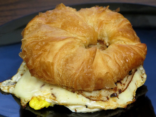 Turkey, sausage, egg, and cheese croissant by Coyoty