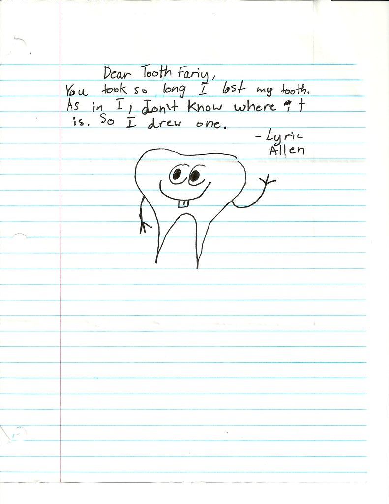 Lyric tooth fairy letter