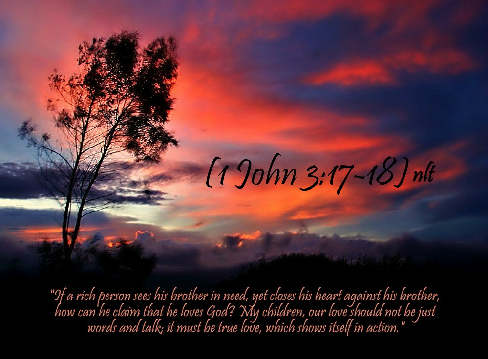 Image result for 1 John 3:17