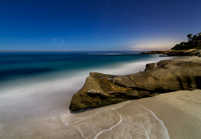 Windansea Beach at Night 110714 © Michael Klayman 2014- 01