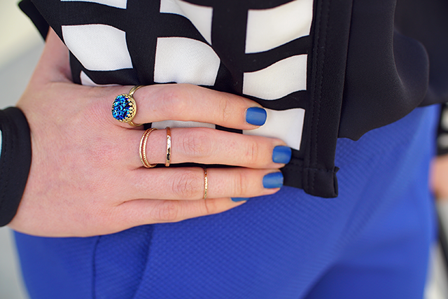 eclectic eccentricities druzy ring