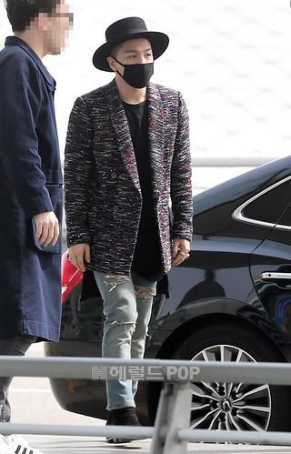 Big Bang - Incheon Airport - 21mar2015 - Tae Yang - Herald Corp - 01