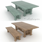Balinese Inspired Dining Set 3D Models