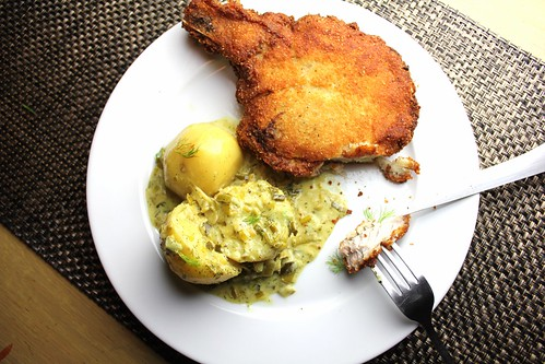 Slovak Potato-Crusted Pork Chops