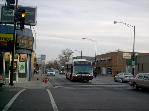 Northbound Chicago Transit Authority Rt # 52A /  South Kedzie bus approaching the intersection at West 111th Street.  Chicago Illinois.  April 2007. by Eddie from Chicago