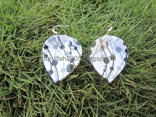 Handmade Jewelry - Card Paper Earrings  (48) by fah2305