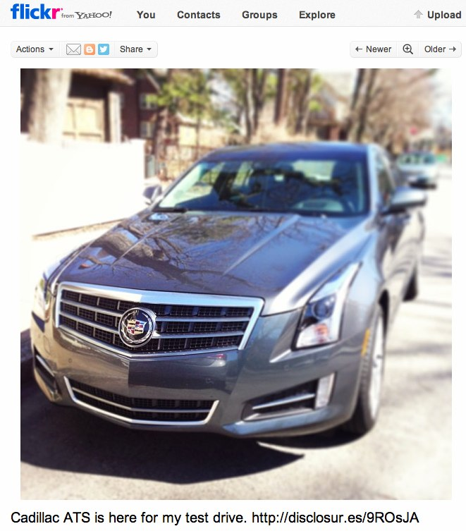 Flickr: Cadillac ATS is here for my test drive. http:__disclosur.es_9ROsJA | Flickr - Photo Sharing!