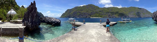 Panoramic shot of Matinloc Shrine at El Nido, Palawan