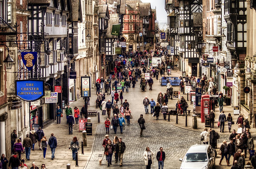 street streetscene chester thewall coldprocess fauxhdr hdrfromsingleraw lotstosee d7000 nikkorafs70300mmf4556gifedvr nikond7000