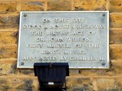 Photo of John Wilson grey plaque