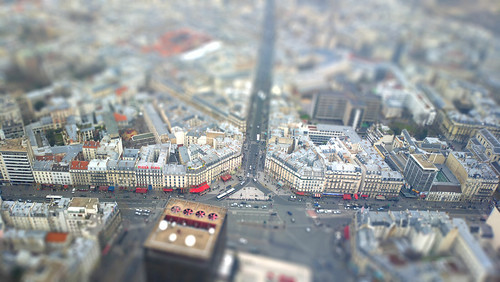Paris tiltshifted