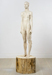 <strong>The Tainted - </strong> <br />Aron Demetz, Sud (front), 2012, Limewood, 80 cm x 60 cm x 220 cm