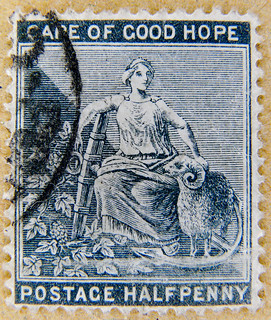 wonderful old stamp Cape of Good Hope Halfpenny South Africa RSA postage Half Penny poste timbres Afrique du Sud sellos Sudáfrica Postzegel Zuid-Afrika selos África do sul frimerker Sør-Afrika Republika znaczki Południowej Afryki марки ЮАР