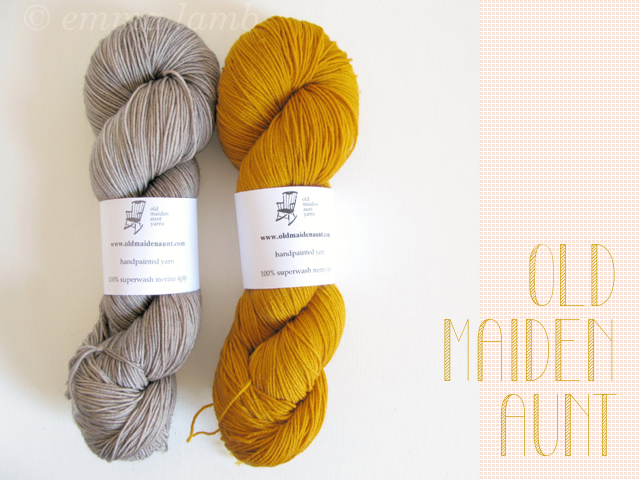 Merino Superwash 4ply in Buttermint & Greige, by Old Maiden Aunt | Emma Lamb