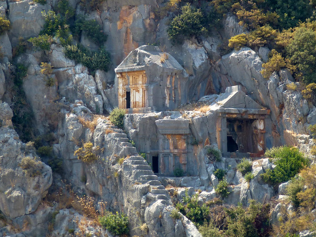 Turquie - jour 10 - Demre (Myra) - 010 - Nécropole de Myra (Örenyeri)