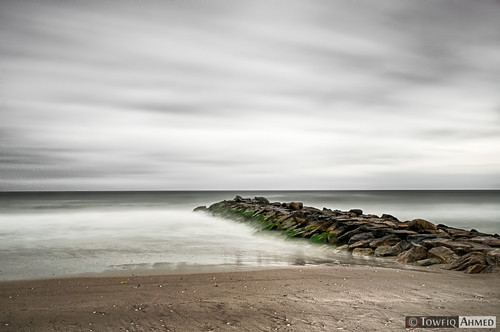 ocean camera nyc newyorkcity longexposure sea sky cloud newyork motion slr beach nature rock clouds landscape outdoors photography sand nikon long exposure flickr outdoor jetty horizon dream wave filter casual algae dslr digitalslr rockaway dreamscape rockawaybeach d90 nd110bw