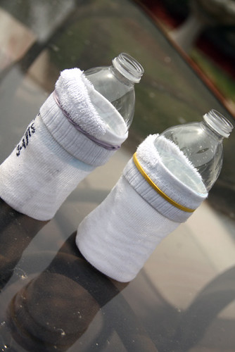 Bottles-with-Socks-on-Them