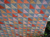 Orange & Grey triangle quilt