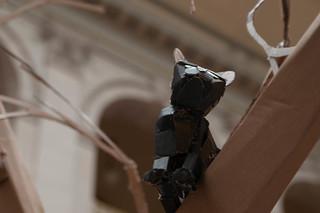 Upcycled Cardboard Tree Cat