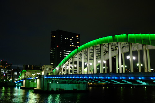 Night at Kachidoki bashi