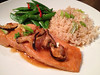 Sweet Soy Salmon, Leon Cookbook